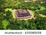aerial view of the mandala...   Shutterstock . vector #635080058