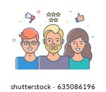 social network  user reviews... | Shutterstock .eps vector #635086196