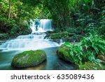 mun dang waterfall at phu hin... | Shutterstock . vector #635089436