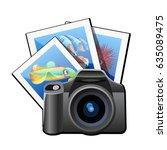 specular camera of traveler... | Shutterstock .eps vector #635089475