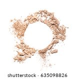 make up crushed powder on white ...   Shutterstock . vector #635098826