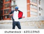 portrait of stylish african... | Shutterstock . vector #635115965