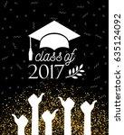 class of 2017 graduate banner... | Shutterstock .eps vector #635124092