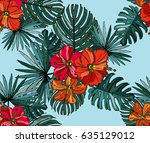elegant seamless pattern with... | Shutterstock .eps vector #635129012