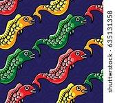 koinobori colorful hand drawing ... | Shutterstock .eps vector #635131358