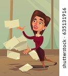 careless inattentive business... | Shutterstock .eps vector #635131916