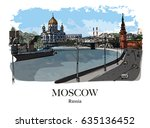 Moskva River  Moscow  Russia ...