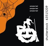 black halloween card with a... | Shutterstock .eps vector #63515209
