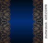vintage floral decorative... | Shutterstock . vector #635153498