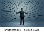 a confused businessman under... | Shutterstock . vector #635153636