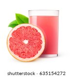 isolated drink. glass of pink... | Shutterstock . vector #635154272