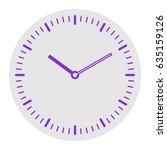 clock face. vector. violet flat ... | Shutterstock .eps vector #635159126