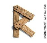 Wood Font  Plank Font Letter R