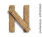 wood font  plank font letter n | Shutterstock . vector #635163662