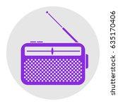 radio icon  receiver. vector.... | Shutterstock .eps vector #635170406