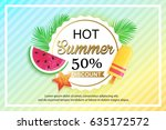 summer sale background design... | Shutterstock .eps vector #635172572