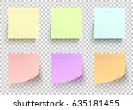 colored paper stickers set.... | Shutterstock .eps vector #635181455