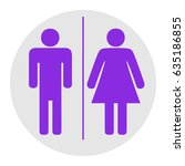 restroom sign illustration.... | Shutterstock .eps vector #635186855