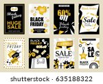 collection of black friday sale ... | Shutterstock .eps vector #635188322