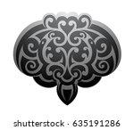 maori ornamental tattoo shape... | Shutterstock .eps vector #635191286