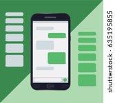 chat mobile  messages  bubbles  ... | Shutterstock .eps vector #635195855
