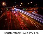 light trail on traffic junction | Shutterstock . vector #635199176