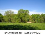 spring landscape  meadow | Shutterstock . vector #635199422