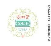 mobile advertising banner  ... | Shutterstock .eps vector #635199806