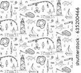 seamless pattern hand drawn...   Shutterstock .eps vector #635200466
