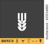 agriculture icon flat. simple... | Shutterstock . vector #635216882