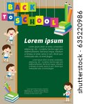 back to school kids education... | Shutterstock .eps vector #635220986