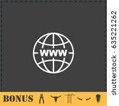 world wide web icon flat....   Shutterstock . vector #635221262