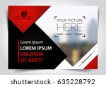 vector brochure  flyer ... | Shutterstock .eps vector #635228792