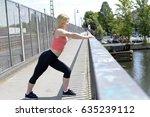 beautiful young blond woman... | Shutterstock . vector #635239112