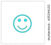 smile. blue simple pictogram...