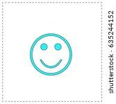 smile. blue simple pictogram...