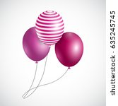 color glossy balloons... | Shutterstock . vector #635245745