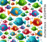 vector seamless pattern with... | Shutterstock .eps vector #635249936