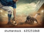 baseball players in action on... | Shutterstock . vector #635251868