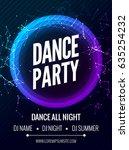 modern club music party... | Shutterstock .eps vector #635254232