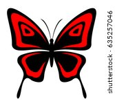 butterfly vector icon | Shutterstock .eps vector #635257046