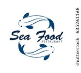 sea food restaurant and fish.... | Shutterstock .eps vector #635261168