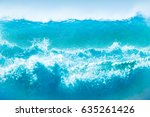 powerful waves background ...   Shutterstock . vector #635261426