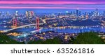 panoramic view of istanbul with ... | Shutterstock . vector #635261816