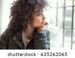 young beautiful african... | Shutterstock . vector #635262065