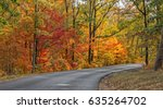 Autumn Road In DeSoto State Park In Alabama