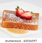French Toast With Powdered...