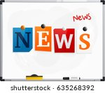the word news made from... | Shutterstock .eps vector #635268392