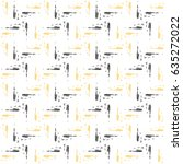 vector seamless pattern with... | Shutterstock .eps vector #635272022