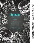 burgers and ingredients vector... | Shutterstock .eps vector #635276672
